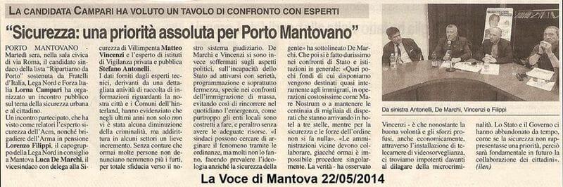 Sicurezza Porto Mantovano 2014