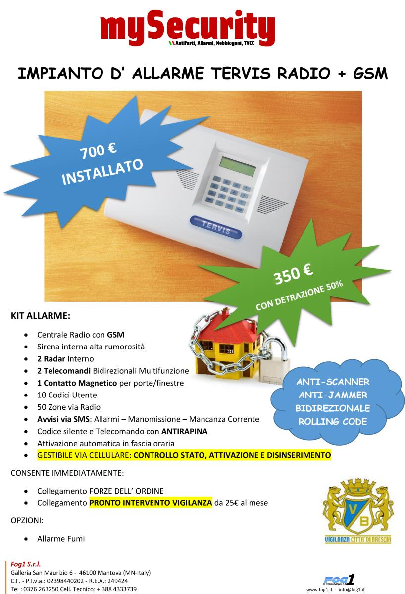 Antifurto Casa Wireless 350€
